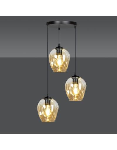 szklana lampa wisząca...